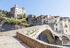 Dolceacqua Medieval Castle Royalty Free Stock Photography