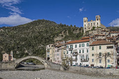 Dolceacqua. The small Ligurian town of Dolceacqua is dominated by a mighty castle Royalty Free Stock Photo