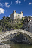Dolceacqua. The small Ligurian town of Dolceacqua is dominated by a mighty castle Royalty Free Stock Images