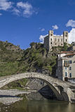 Dolceacqua. The small Ligurian town of Dolceacqua is dominated by a mighty castle Royalty Free Stock Photography