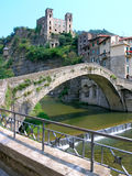 DolceAqua Bridge. Bridge of Dolce Aqua painted by Monet and ruins of old city. Wine from this area was one of Napoleon's favorite, Italy