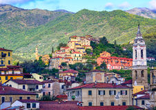 Dolcedo, little italian town in the Maritime Alps mountain in Li Stock Photos