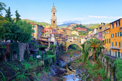 Dolcedo, small italian town in the Maritime Alps, Liguria, Italy. Dolcedo, little italian town hidden in the Maritime Alps mountain on Riviera by Imperia Stock Photography