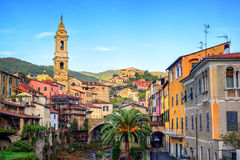 Dolcedo, small italian town in the Maritime Alps mountain, Ligur Royalty Free Stock Photo