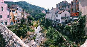 Dolcedo town. Landscape view of Dolcedo, a small town in Liguria , Italy royalty free stock photography
