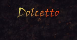 Dolcetto o Schezetto (Trick or Treat) Italian text dissolving into dust from bottom stock footage