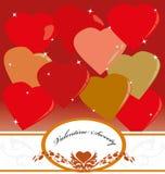 Dolcezza del biglietto di S. Valentino Fotografia Stock