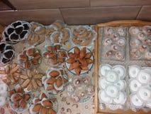 Dolci arabi cucinati tramite mia madre immagini stock