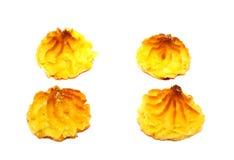 Dolci casalinghi, biscotti isolati Immagini Stock