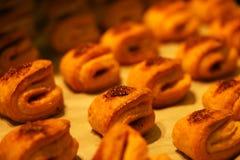 Dolci casalinghi, biscotti leggeri della cannella, fondo torte immagini stock