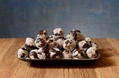 Dolci casalinghi con la noce di cocco ed il cioccolato Fotografia Stock Libera da Diritti