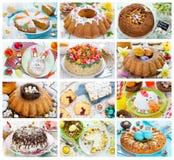 Dolci di Pasqua del collage dell'alimento Immagine Stock Libera da Diritti