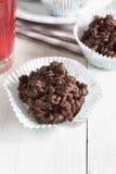 Dolci di riso del cioccolato Immagine Stock