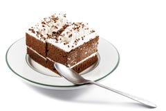 Dolci e cucchiaio di cioccolato Immagini Stock