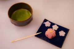 Dolci e t? verde giapponesi immagine stock