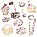 Dolci, muffin Fotografie Stock