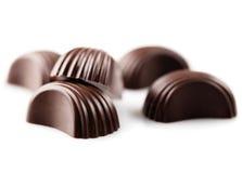 Dolci, primo piano delle caramelle di cioccolato Fotografie Stock Libere da Diritti