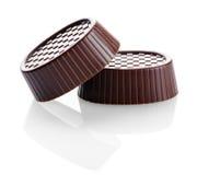 Dolci, primo piano delle caramelle di cioccolato Fotografia Stock Libera da Diritti