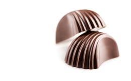Dolci, primo piano delle caramelle di cioccolato Fotografia Stock