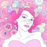 Dolci rosa della regina immagini stock libere da diritti