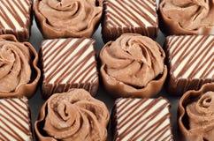 Dolci saporiti da un cioccolato al latte Fotografie Stock Libere da Diritti
