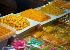 Dolci tailandesi nel mercato Bangkok Tailandia Immagine Stock Libera da Diritti