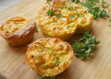 Dolci, verdure dei muffin Immagini Stock