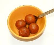 Dolciumi indiani Jamun-yummy di Gulab fotografia stock libera da diritti