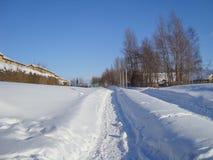 Dold bana för snö i Aalborg i Danmark Arkivfoton