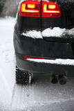 Dold bil för Snow Royaltyfria Bilder