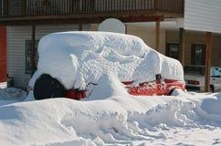 Dold bil för Snow Royaltyfri Fotografi