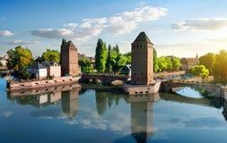 Dold bro i Strasbourgh Royaltyfria Bilder