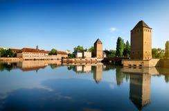 Dold bro Strasbourgh Arkivfoto