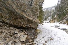 Dold flod för Snow arkivfoto