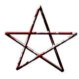 Dold pentagram för blod stock illustrationer