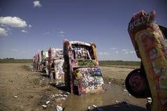 Dolda bilar för grafitti Fotografering för Bildbyråer