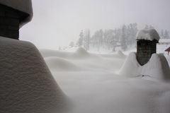 Dolda lampglas för snö Arkivfoton