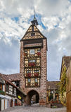 Dolder Tower, Riquewihr, France. Historical Dolder Tower in Riquewihr, Alsace, France Stock Image