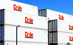 Dole Containers Royalty Free Stock Photography