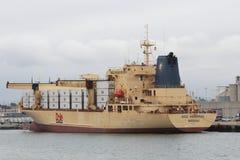Dole-Lebensmittelunternehmen-Schiff am Hafen in San Diego Stockfoto