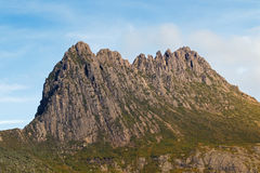 Dolerite of cradle mountain. Rugged mountain peaks of Weindorfer. Closeup zoom photo of Dolerite of cradle mountain. Rugged mountain peaks of Weindorfers Tower Royalty Free Stock Photos