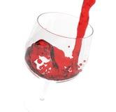 dolewania czerwone wino Obraz Stock