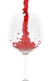 dolewania czerwone wino Obrazy Stock