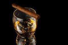 dolewania szklany whisky Obraz Stock
