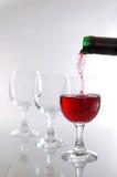 dolewania wino fotografia stock
