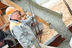 dolewanie betonowa praca Obrazy Stock