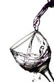 dolewanie szklana woda Obraz Stock