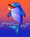 Dolfijn bij zonsondergang Stock Fotografie