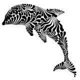 Dolfijn grafische illustratie Stock Afbeeldingen