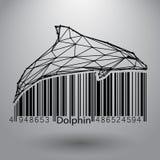 Dolfijn van driehoeken en lijnen Stock Afbeeldingen